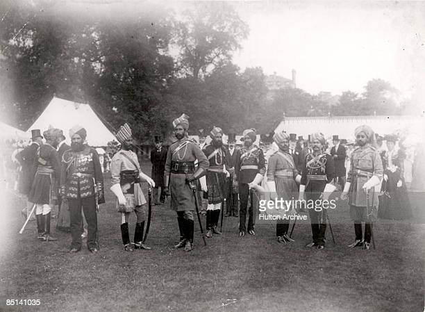 Representatives from India attend a garden party in London to celebrate the Diamond Jubilee of Queen Victoria June 1897
