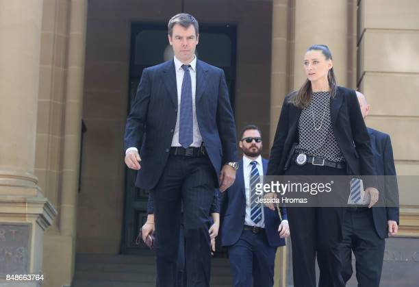 AFP representatives leave the Sydney Central Local Court on September 18 2017 in Sydney Australia Michael and Fadi Ibrahim along with Mustapha Dib...