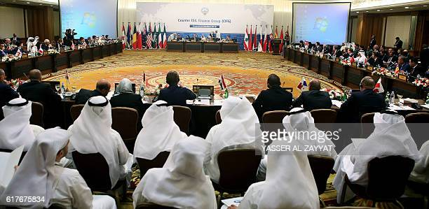Representatives of countries attend the meeting of the counterISIL finance group which was formed early last year and is led by the United States...
