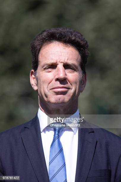 Representatives of employee organizations and companies at the Board of Directors of Paris 2024 Geoffroy Roux de Bezieux cosignatorie of the chart...