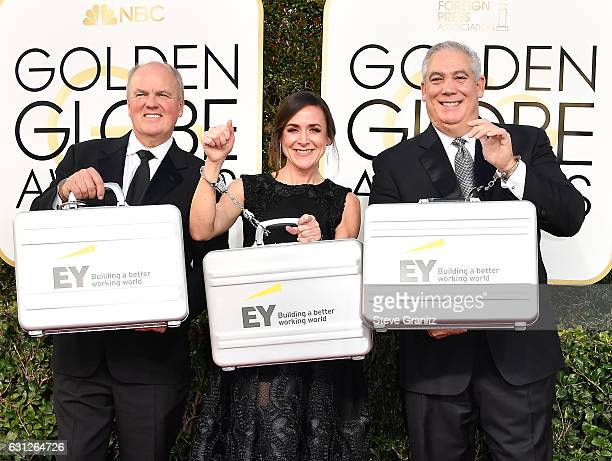Representatives of Ernst Young attend the 74th Annual Golden Globe Awards at The Beverly Hilton Hotel on January 8 2017 in Beverly Hills California