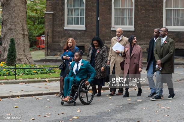 Representatives of film and television industry including Ade Adepitan Sir Lenny Henry Anthony Lester OBE and Meera Syal arrive at 10 Downing Street...