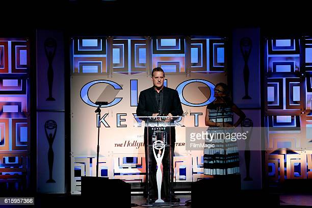 A representatives of FX Networks accepts the Television Teaser Grand award for 'Man Seeking Woman' onstage during the CLIO Key Art Awards 2016 at...