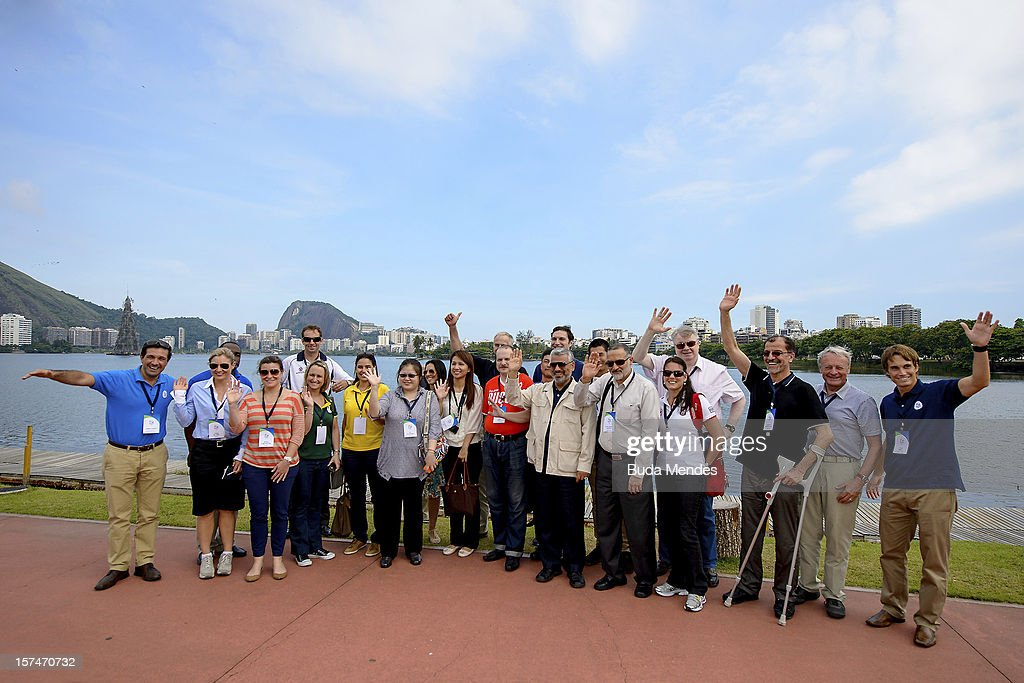 Representatives of National Olympic Committees from all continents, namely: Australia, Canada, Taiwan, Czech Republic, Iran, Japan, Russia, Saint Lucia, Serbia, South Africa and Brazil visit the future premises of the rowing and canoeing, at Cine Lagoon on December 03, 2012 in Rio de Janeiro, Brazil. The objective is to present the Olympic Games Rio 2016, exposing the organization's progress to date, and provide inspection visits to venues and the Olympic Village.