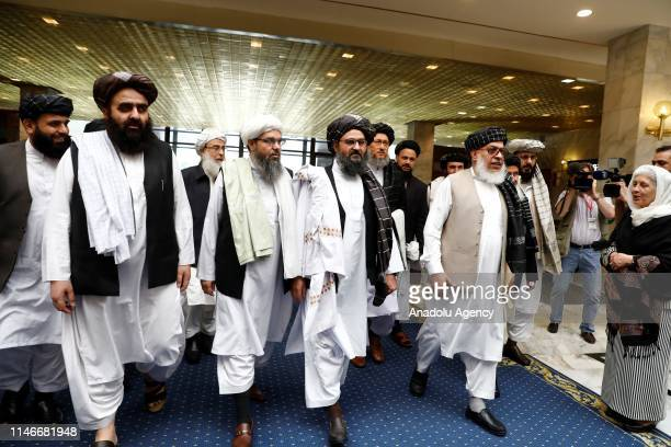 Representatives of Taliban led by Mullah Abdul Ghani Baradar accompanied by Head of Political Office of the Taliban Sher Mohammad Abbas Stanakzai...