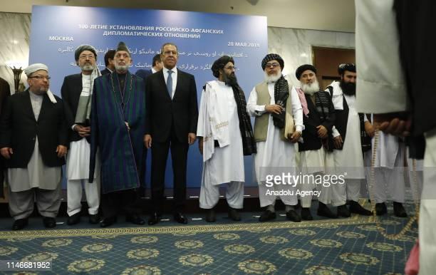 Representatives of Taliban led by Mullah Abdul Ghani Baradar , accompanied by Head of Political Office of the Taliban Sher Mohammad Abbas Stanakzai ,...