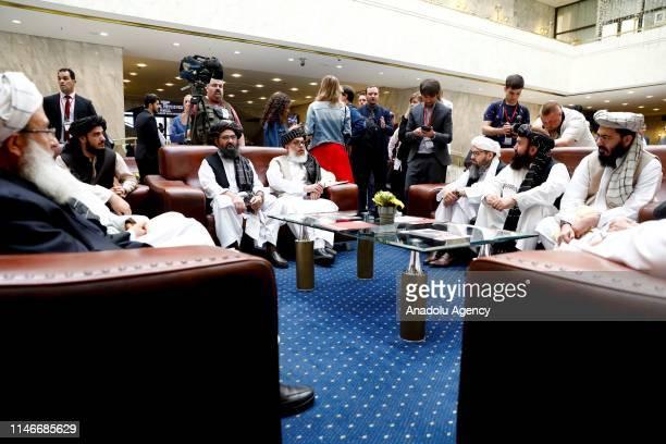 Representatives of Taliban led by Mullah Abdul Ghani Baradar , accompanied by Head of Political Office of the Taliban Sher Mohammad Abbas Stanakzai...