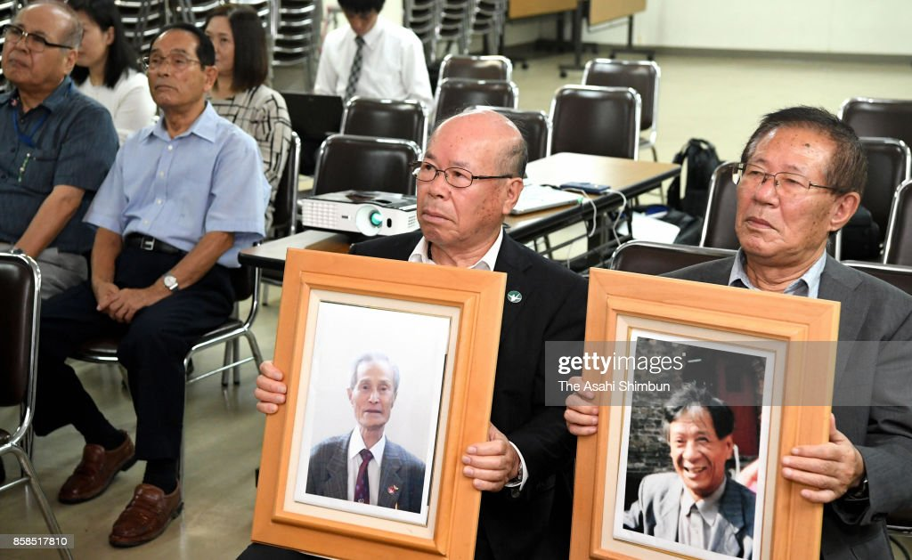 Representatives of the Nagasaki Atomic Bomb Survivors Council speak during a press conference after the Nobel Peace Prize is announced on October 6, 2017 in Nagasaki, Japan. The Norwegian Nobel Committee announced that this year's Nobel Peace Prize was awarded to the International Campaign to Abolish Nuclear Weapons (ICAN), which contributed to the adoption in July of the Treaty on the Prohibition of Nuclear Weapons.