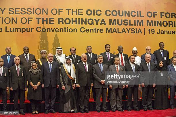 Representatives of the Organization of Islamic Countries Council pose for a photo during the OIC Council of Foreign Ministers Extraordinary Session...