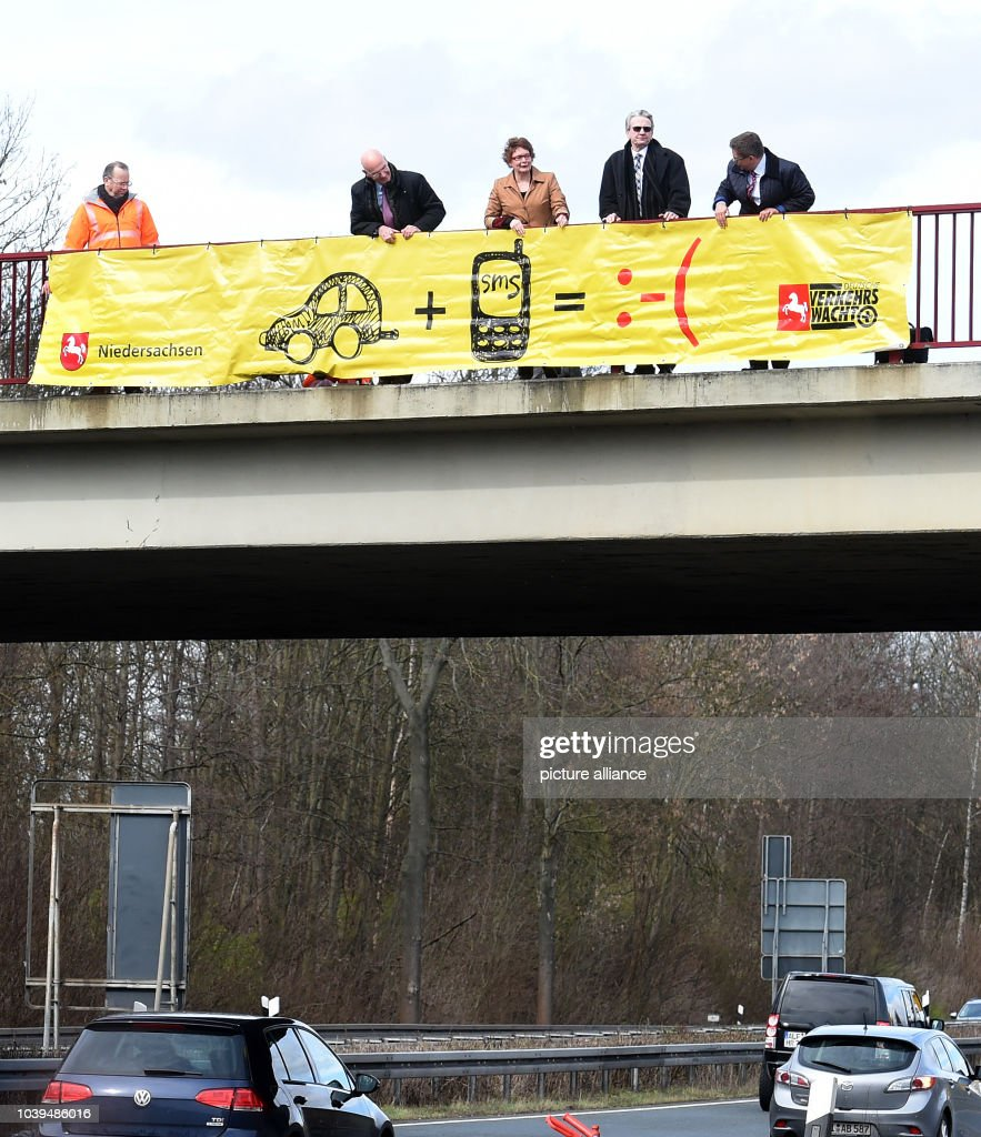 'Typing kills' road safety campaign in Lower Saxony : News Photo