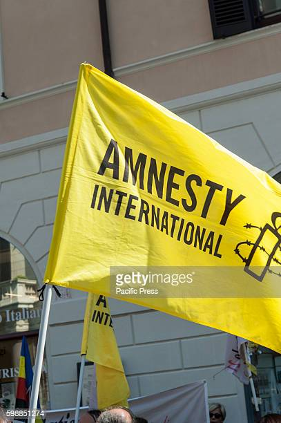 Representatives of UNICEF Amnesty International Article 21 USIGRAI National Press Federation and other associations gathered in the square of SS...