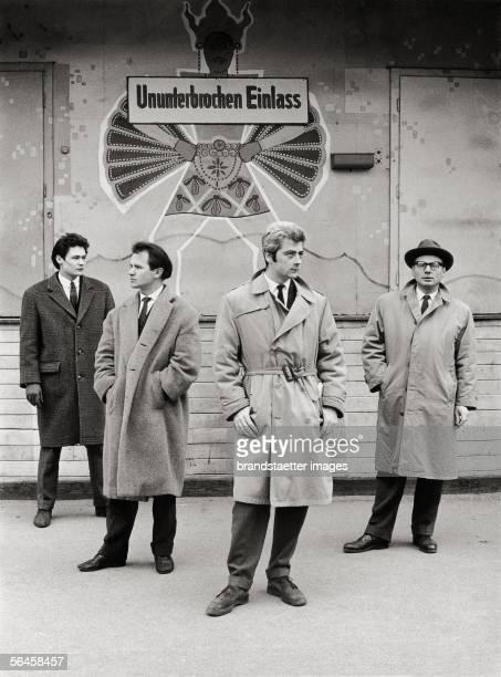 Representatives of Vienna's fantastic realism Helmut Leherb Anton Lehmden Wolfgang Hutter and Rudolf Hausner Photography 1954 [Die Urzelle des Wiener...