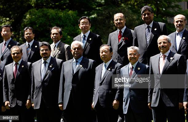 Representatives participating in the 3rd Asian Ministerial Energy Roundtable Meeting pose for a group photo in Tokyo Japan on Sunday April 26 2009...