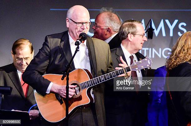 Representiave Joe Crowley accepts an award and performs during 2016 Grammys On The Hill Awards at The Hamilton on April 13 2016 in Washington DC