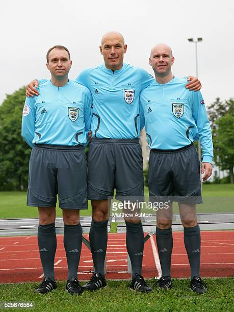 Representing England at Euro 2008 Assistant Referee / Linesman Darren Cann Referee Howard Webb and Assistant Referee / Linesman Mike Mullarkey
