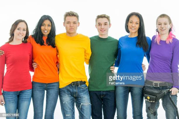 representing pride together - bisexuality stock photos and pictures
