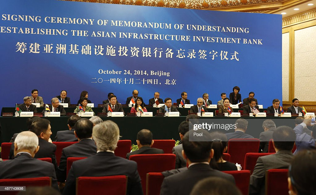 Asian Bank Agreement Signed By Nations; Snubbed By Others : News Photo