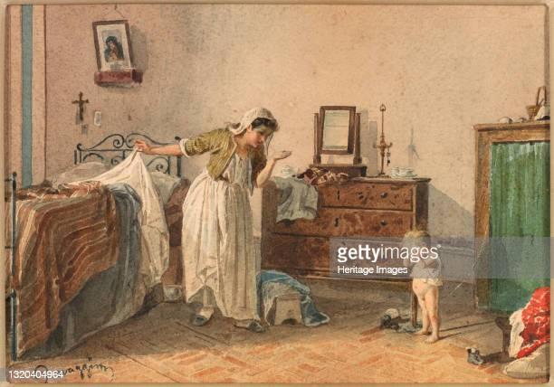 Reprimand, 19th century. Artist Cesare Provaggi.