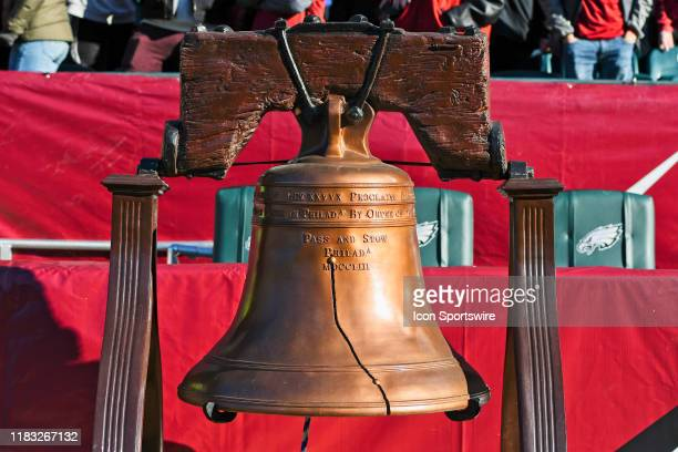 Reproduction Liberty Bell sits on the sidelines during the game between the Tulane Green Wave and the Temple Owls on November 16, 2019 at Lincoln...