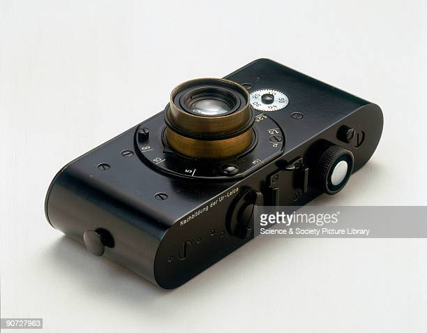 Reproduction made by the German camera manufacturer Leitz Oskar Barnack developed this the prototype for the first small commercial Leica camera...