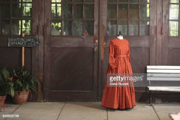 TORONTO ON SEPTEMBER 21 Reproduction of an 1850's work dress worn at Mackenzie House The dress is fashioned after a design titled Ladies Working...