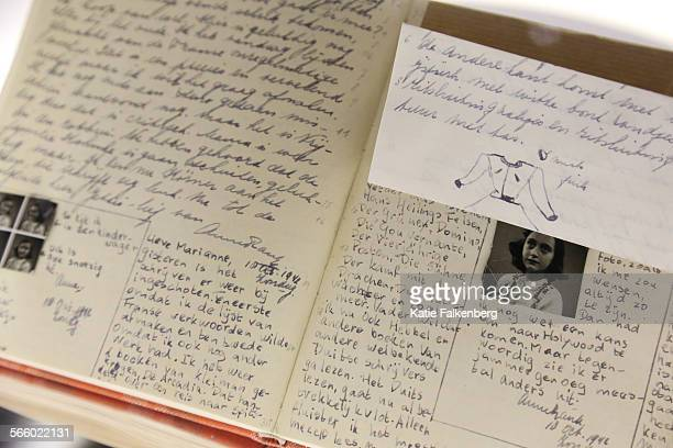 A reproduction of Anne Frank's diary is part of a new permanent exhibition about the life of Anne Frank at the Simon Wiesenthal Center and the Museum...