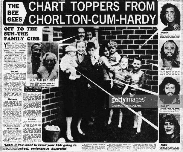 Reproduction of page from the London Daily Express shows an article about the Anglo-Australian musical family the Gibbs, from whose ranks sprang the...