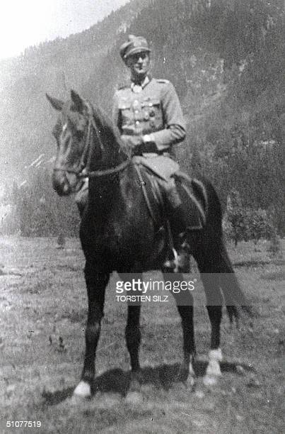 Reproduction picture dated 09 July 2004 shows an historic photo taken 07 July 1944 of Philipp Freiherr von Boeselager one of the last surviving...