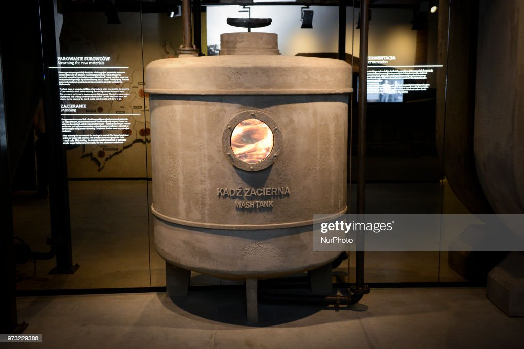 A reproduction vodka making facility is seen at the Polish Vodka Musuem on June 12, 2018 in Warsaw, Poland.