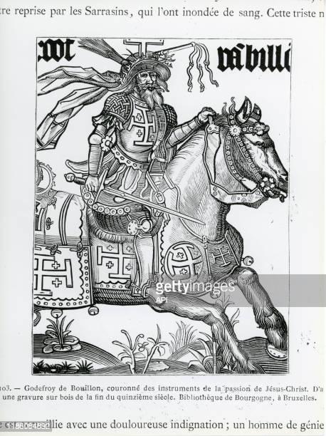 Représentation du chevalier franc Godefroy de Bouillon, avoué du Saint-Sépulcre.
