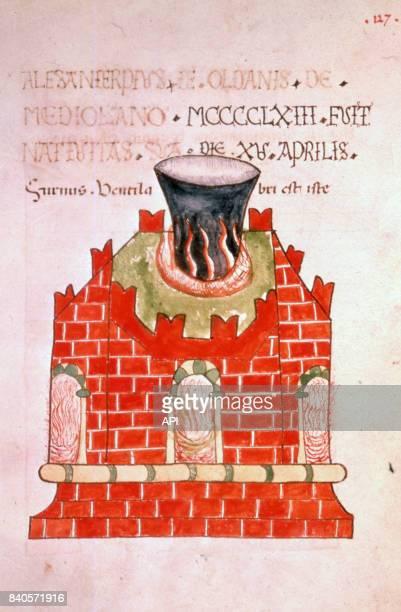Représentation d'un fourneau cosmique athanor utilisé en alchimie pour la fabrication de la pierre philosophale