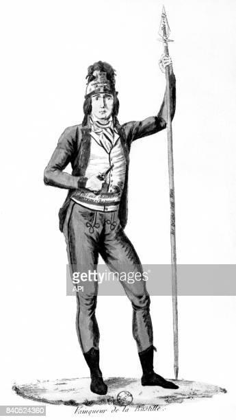 Représentation d'un 'sansculotte' lors de la prise de la Bastille le 14 juillet 1789 à Paris France