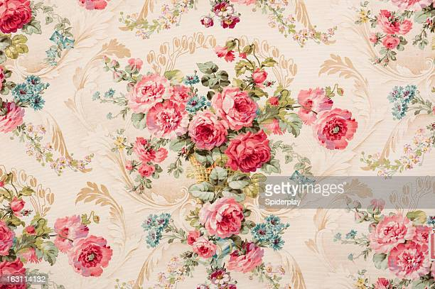 Reps Floral Fabric 07726868 Close Up
