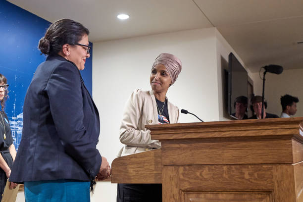 MN: Rep. Ilhan Omar And Rep. Rashida Tlaib Hold Press Conference To Address Being Barred From Travelling To Israel