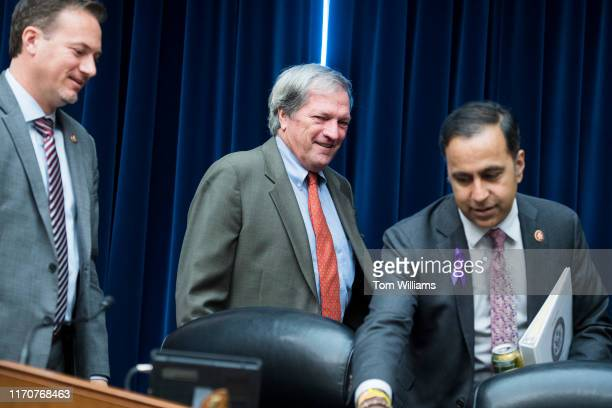 Reps Mark DeSaulnier DCalif center and Michael Cloud RTexas left and Chairman Raja Krishnamoorthi DIll arrive for the House Oversight and Reform...