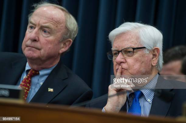 Reps Rodney Frelinghuysen RNJ left full committee chairman and Hal Rogers RKy conduct a House Appropriations Commerce Justice Science and Related...