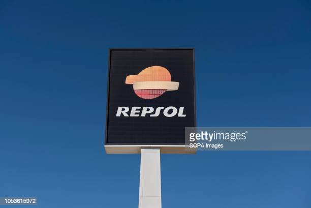 Repsol gas station seen in Spain