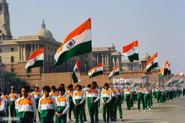 Republic Day parade in Delhi, India.