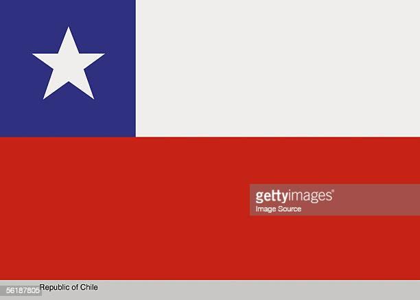 republic of chile - bandiera del cile foto e immagini stock
