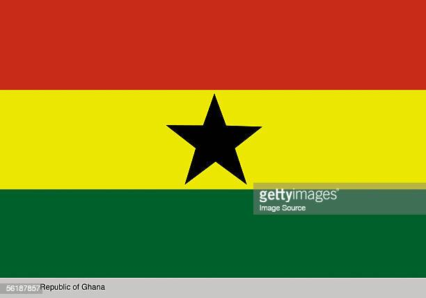 republic of ghana - ghanaian flag stock photos and pictures