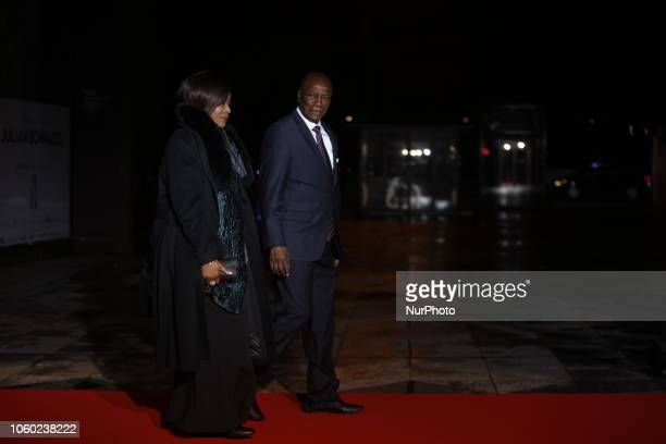 Republic of Guinea's Alpha Conde and his wife Djene Kaba attend a state diner and a visit of the Picasso exhibition as part of ceremonies marking the...