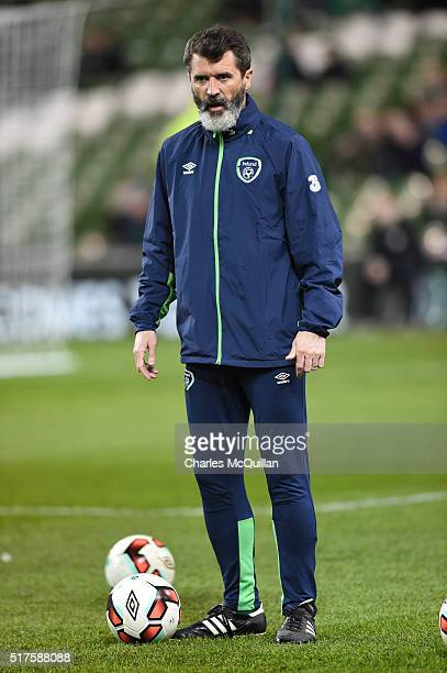 Republic of Ireland assitant manager Roy Keane during the international friendly match between the Republic of Ireland and Switzerland at Aviva...