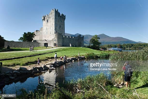 Republic of Ireland, County Kerry, Killarney National Park, Ross Castle on Lough Leane