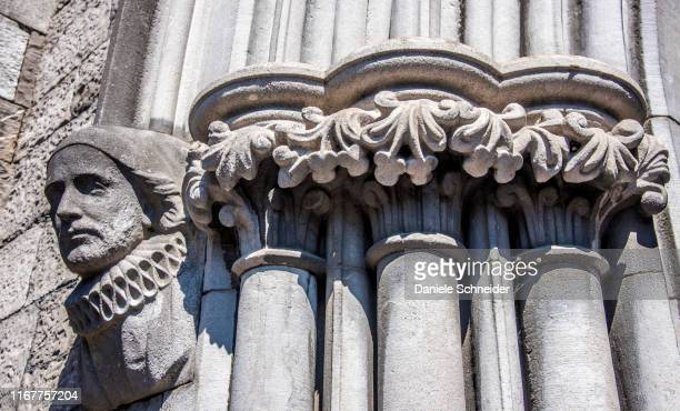 republic of ireland, dublin, detailed view of the gate of saint patrick's anglican cathedral - dublin republic of ireland stock pictures, royalty-free photos & images