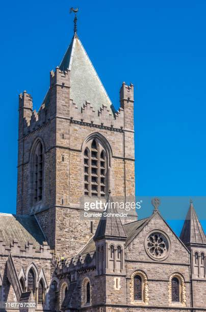 republic of ireland, dublin, historical centre, christ church cathedral (cathedral of the holy trinity) (19th century) - dublin republic of ireland stock pictures, royalty-free photos & images
