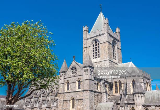 republic of ireland, dublin, historical centre, christ church catredral (cathedral of the holy trinity) (19th century) - dublin republic of ireland stock pictures, royalty-free photos & images