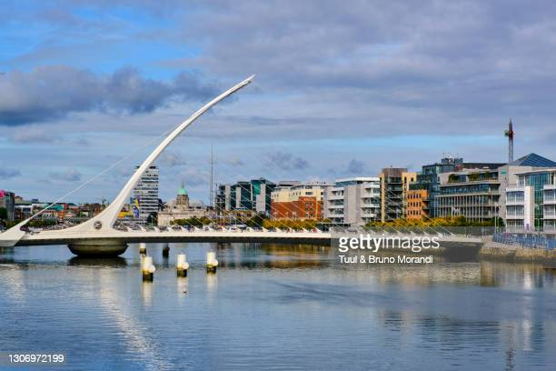 republic of ireland; dublin, the dock, the samuel beckett bridge - leinster province stock pictures, royalty-free photos & images