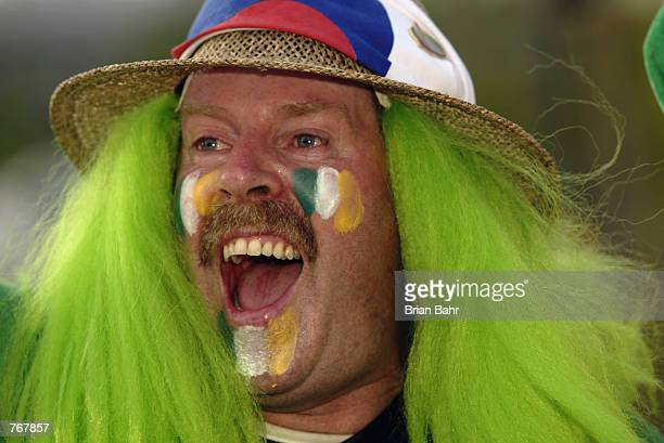 Republic of Ireland fan during the FIFA World Cup Finals 2002 Second Round match between Spain and Republic of Ireland played at the Suwon World Cup...