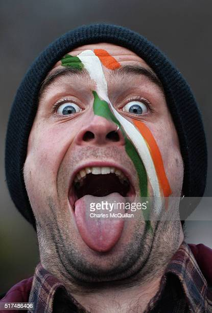 Republic of Ireland fan pictured before the international friendly match between the Republic of Ireland and Switzerland at Aviva Stadium on March 25...