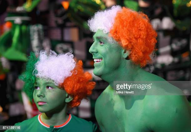 Republic of Ireland fans during the FIFA 2018 World Cup Qualifier PlayOff Second Leg between Republic of Ireland and Denmark at Aviva Stadium on...